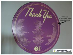 CJP- Thank you Nikki Hornsby Grammy Museum